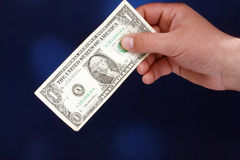 One dollar bill Stock Photography