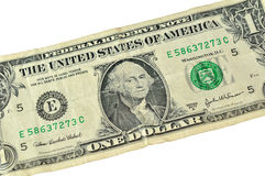 One dollar bill. Close-up of U.S. one dollar banknote Royalty Free Stock Photo
