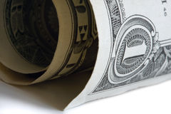 One dollar bill. Royalty Free Stock Photography