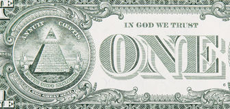 One Dollar Bill Back Close Up Stock Image