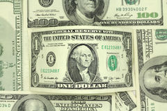 One dollar bill in  background Stock Photo