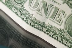 One Dollar Bill Close-up Stock Images