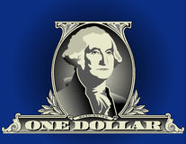 One dollar bill detail Royalty Free Stock Image