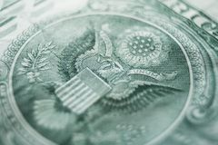 One Dollar Bill With Eagle Close Up High Quality. Stock Photo Royalty Free Stock Images