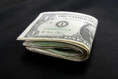 One dollar bill fold Stock Image