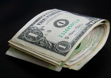 One dollar bill fold Royalty Free Stock Images
