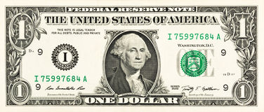 One dollar bill Royalty Free Stock Images
