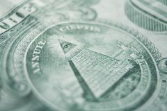 One Dollar Bill With Pyramid High Quality Royalty Free Stock Image