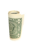 One dollar bill roll Royalty Free Stock Image