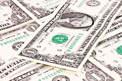 One dollar bills Stock Photography