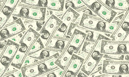 One dollar bills background Royalty Free Stock Images