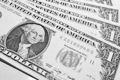 One dollar bills. Black&White stock photo