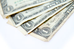 One dollar bills fanned Stock Photography