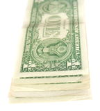 One dollar bills stack Stock Images