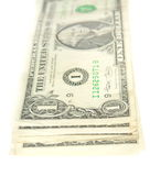 One dollar bills stack Royalty Free Stock Photo