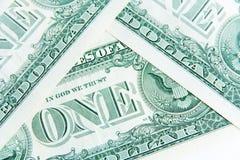 One dollar bills Royalty Free Stock Photos