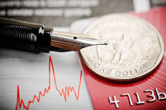 One dollar on chart Royalty Free Stock Photos
