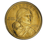 One dollar coin stock photography