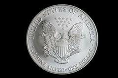 US One Ounce Fine Silver Dollar Stock Images