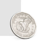 One dollar coin. One USA dollar coin. Isolated on white and grey Stock Image