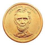 One dollar coin. Royalty Free Stock Photo