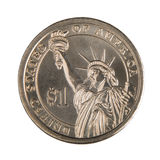 One Dollar Coin - Front Royalty Free Stock Photography