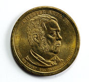 One dollar coin Royalty Free Stock Image