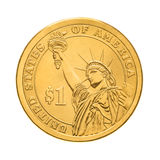 One dollar coin - Statue of  Liberty Royalty Free Stock Images