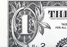 One dollar detail close-up. stock image