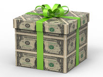 One dollar gift wrapping Royalty Free Stock Photos