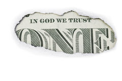 One Dollar  In God We Trust Stock Photography