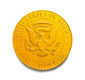 One Dollar Gold Coin Royalty Free Stock Photos