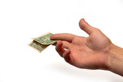 One dollar in the hand Royalty Free Stock Images