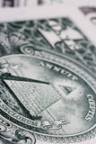 One dollar note. Close up of a one dollar note Royalty Free Stock Photos