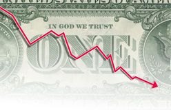 One dollar note Stock Image