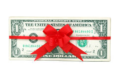 One dollar present Royalty Free Stock Photo
