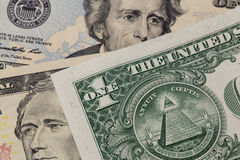 One dollar pyramid Stock Image