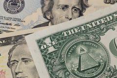 One dollar pyramid Stock Image