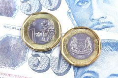 One dollar Singapore coin Stock Photography