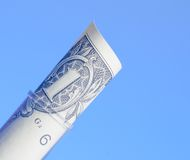 One dollar in test tube, cost of medical health care Royalty Free Stock Images