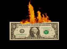 1 Dollar to burn Royalty Free Stock Photo