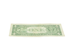One dollar United states currency on white Stock Image