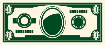 One dollar. Vector Illustration stylized image of a dollar Stock Images