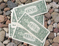 One Dollars Bills Stock Photography