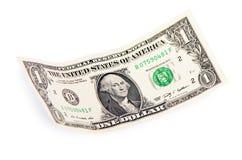 One dollars isolated on white background Stock Photos