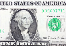 The one dollars  on white background Stock Images