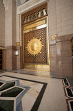 One of the doors made of brass at Masjid Nabawi Stock Images
