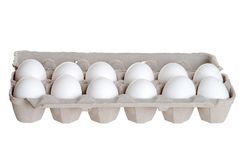 One dozen eggs Royalty Free Stock Image