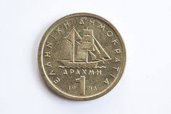 One drachma Greek coin Stock Images