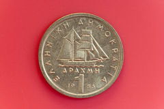 One drachma Greek coin Royalty Free Stock Image